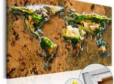 Kép parafán - World Jungle [Cork Map]